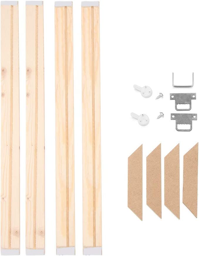 Wood Stretcher Bars Painting Canvas Wooden Frame for Gallery Wrap Oil Painting,Needlepoint Arts Stretcher Bars DIY 7.8x7.8