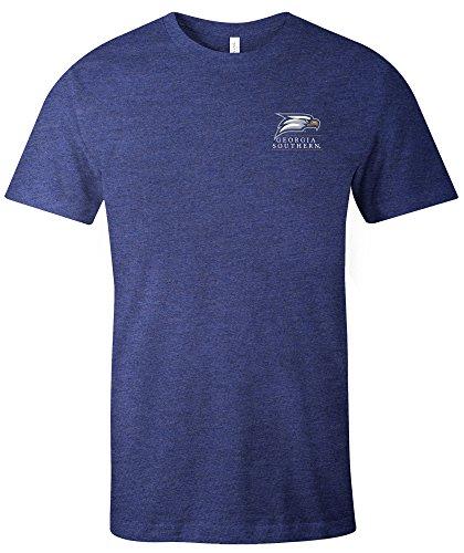 NCAA Georgia Southern Eagles Simple Mascot Short Sleeve Triblend T-Shirt, XX-Large,Navy -