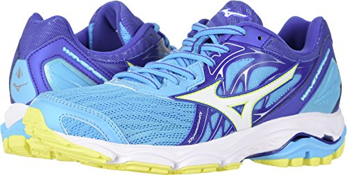 Mizuno Women's Wave Inspire 14 Running Shoe, Dapple Gray/Clover, 9.5 B US