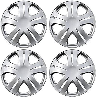Amazon.com: OxGord Hub-caps for 09-16 Honda Fit (Pack of 4) Wheel Covers 15 inch Snap On Silver: Automotive