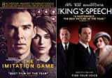 Modern Classic Dramas The Imitation Game & The King's Speech 2-DVD Double Feature Bundle