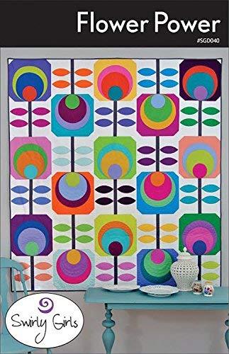 Flower Power Quilt Pattern by Swirly Girls Designs 60