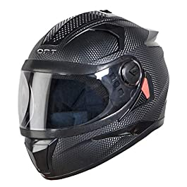 Steelbird 7Wings OPT Full Face Helmet with Free Cable Lock (Large 600 MM, Dashing Black with Plain Visor)