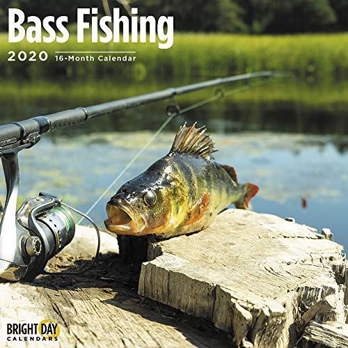 2020 Bass Fishing Calendar 12 x 12 Wall Calendar by Bright Day Calendars (Hunting And Fishing Best Times Calendar)
