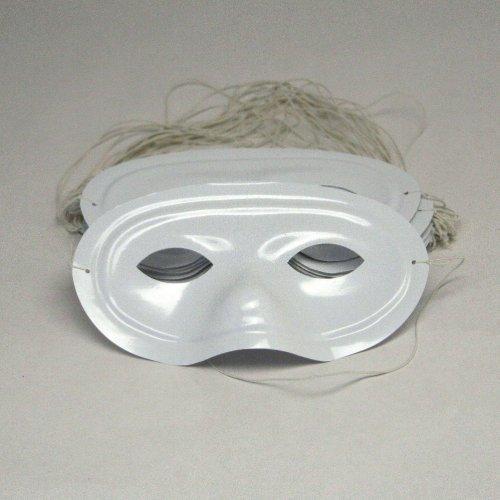 Plastic White Half Masks (2 dozen) - Bulk [Toy]]()