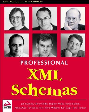 Book cover from Professional XML Schemas by Jon Duckett