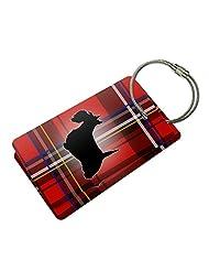 Scottie Dog on Red Plaid Scottish Terrier Suitcase Bag ID Luggage Tag Set