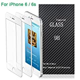 iPhone 6/6s Screen Protector,Airsspu Tempered Glass 3D Touch Compatible,9H Hardness,Bubble Free (2Pack White)