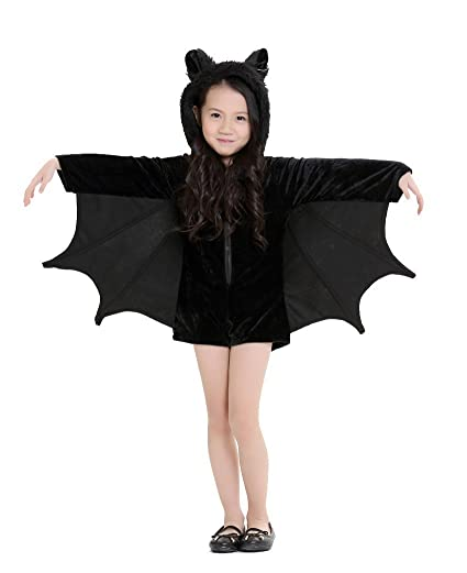 cuteshower kids bat jumpsuit halloween costume for girls x small