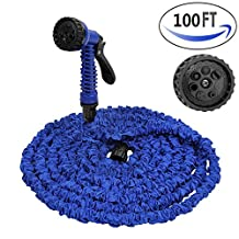 Garden Hose Nozzle Spray Nozzle 100 FT Reaportus for Watering Nozzle Car Wash Cleaning Connectors and Sprayer Expandable Garden Hose with Brass Fittings
