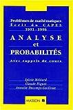 img - for Analyse et probabilit s. Probl mes de math matiques. Ecrits du CAPES (1990-1996) book / textbook / text book