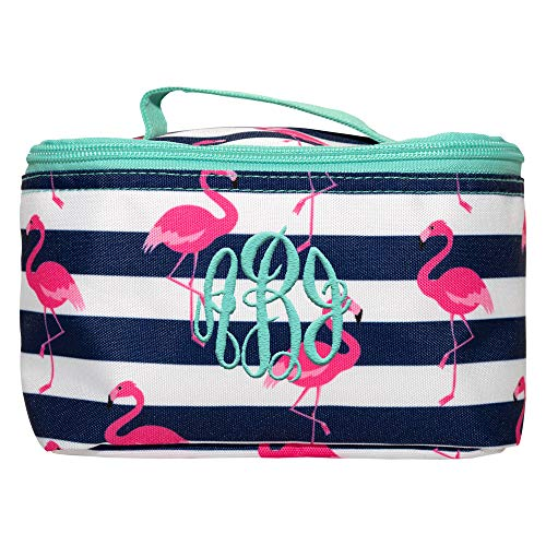 (Personalized Small Cosmetic Makup Bags for the Girl on the Go (Pink Flamingo))