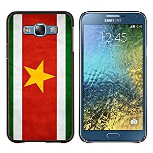BearCase / Cubierta de protección Caso duro de la contraportada de Shell Plástico /// Samsung Galaxy E7 E700 /// Nacional bandera de la nación País Suriname