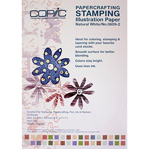 Copic Markers Stamping Illustration Paper