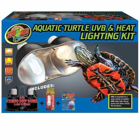 - Zoo Med Aquatic Turtle UVB Heat Lighting Kit