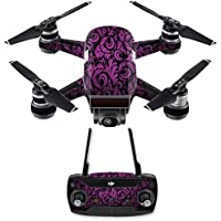 Skin for DJI Spark Mini Drone Combo - Purple Style| MightySkins Protective, Durable, and Unique Vinyl Decal wrap cover | Easy To Apply, Remove, and Change Styles | Made in the USA