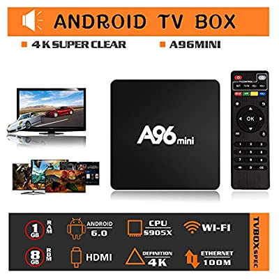 Set Top Box, Binwen Android 6.0 Google Internet TV Box Amlogic S905X Quad Core 3D 4K Support 2.4G Wi-Fi 1GB/8GB by Binwen