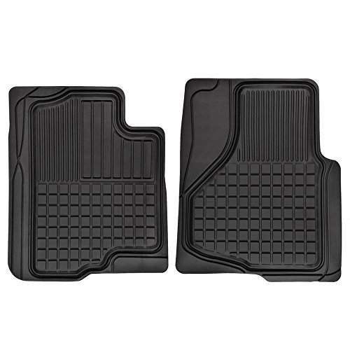 Trend Two Piece (Motor Trend FlexTough Custom Liners Heavy Duty Rubber Floor Mats for Ford F-150 2009-2014 (2 Piece))