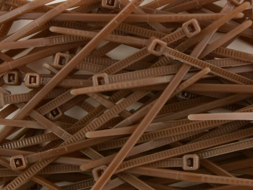4 Inch Brown Miniature Nylon Cable Tie - by SecureTM Cable Ties