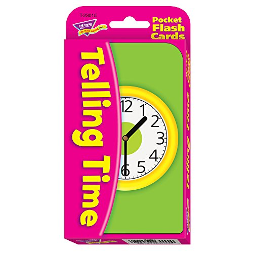 Telling Time Pocket Flash Cards (Telling Time To The Half Hour Activities)