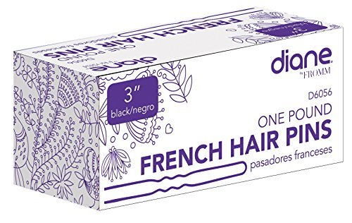 Diane French Hair Pins, Black, 3