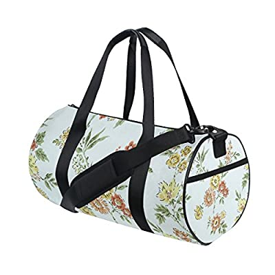 0583cc8293 Waterproof for Men Women. chic Canvas Sport Duffel Bag Flowers gym bag   Amazon.com INOXTO Fitness Sport Small ...