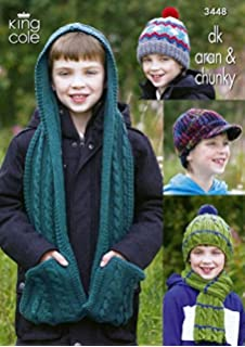 ac5833cbc8b UKHKA 141 Knitting Pattern Childrens Hats and Scarves to knit in ...