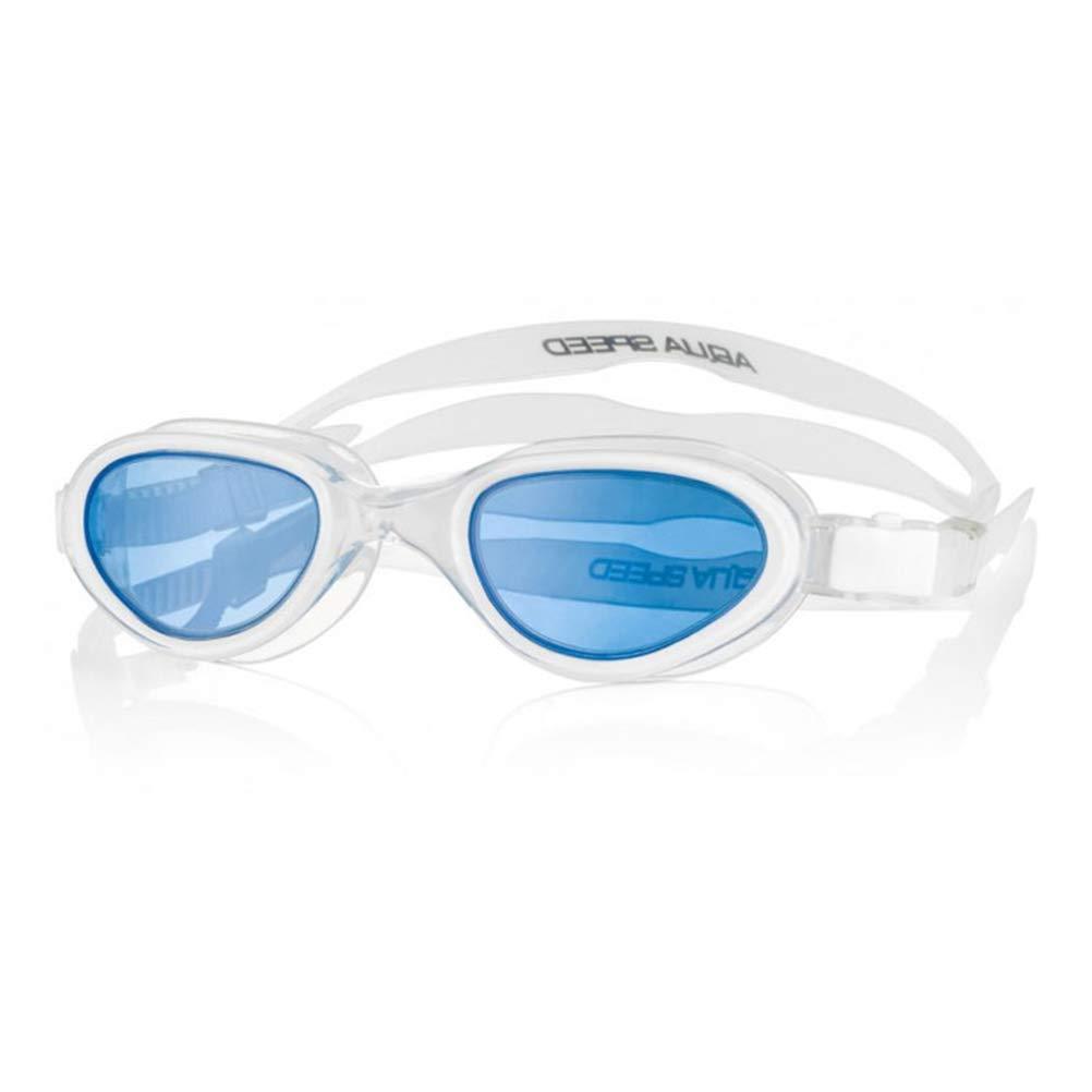 Aqua Speed X-Pro Monoblock - Gafas de natación para Hombre, Talla única, Color Blanco y Azul