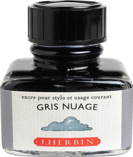 J. Herbin 30ML Fountain Pen Gris Nuage Bottled Ink
