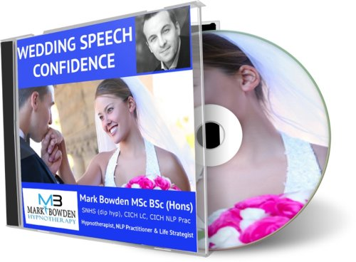 Wedding Speech Confidence Hypnotherapy CD - Leave the public speaking nerves behind and give a wedding speech to be proud of. Whether you are the groom, best man, father-of-the-bride or anyone else giving a talk at the wedding, this will naturally ensure that you are unshakably confident (Best Man Speech Nerves)