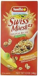 Familia Swiss Muesli, Original Recipe, 12 Ounce (Pack of 6)