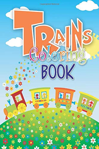 Trains Coloring Book  Mini Fun Coloring Activity Books For Toddlers Kids Kindergarten Boys And Girls