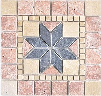 Verre mosaïque de pierre pierre naturelle Mosaïque Carrelage Carreaux Miroir Noir Beige Mosaïque