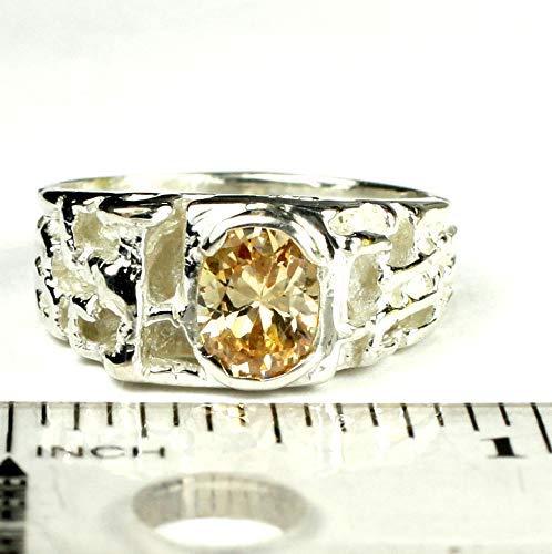 MYSTIC FIRE TOPAZ Sterling Silver Mens Ring /•SR197