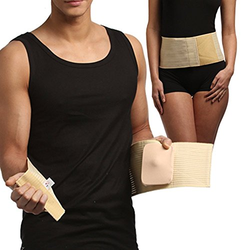 FROM-EUROPE Umbilical hernia Belt, Abdominal Binder, Navel Truss With Removable Bandage, Medical Support Wrap (Size 1) by FROM-EUROPE