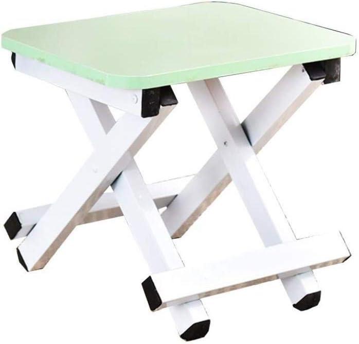 Taburete Plegable para escalones - Taburete Plegable para niños y Adultos, Taburete Plegable para peldaños del baño del huerto (Color : Green)