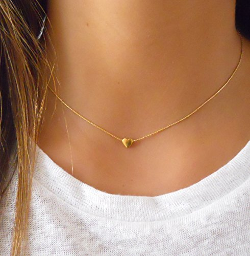 Handmade Dainty Layered 14K Gold Filled Heart Necklace