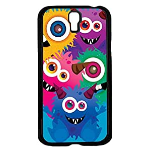 Colorful Monsters on Blue Background Background Hard Snap on Phone Case (Galaxy s4 IV) wangjiang maoyi