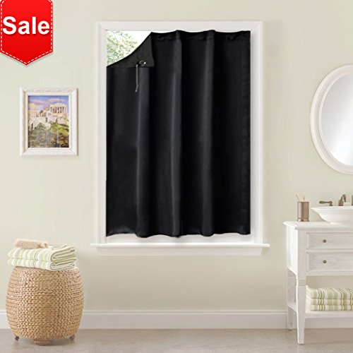 NICETOWN Blackout Shade Curtain Temporary Blinds Versatile Anywhere Portable Lightweight Drape with Suction Cups for Dormer(One Piece,51