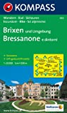 Brixen und Umgebung. Bressanone e dintorni 1 : 25