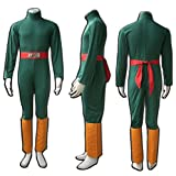 Decalon Naruto Cosplay Costume Rock Lee Jumpsuit Belt Sleeves Outfits