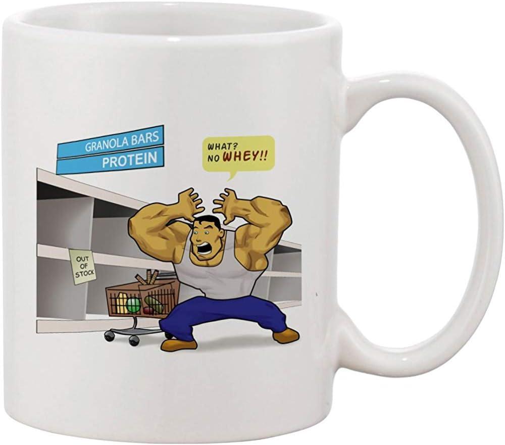 Taza de café - ¿Qué? No WHEY? Hombre Musculoso Divertido Con ...