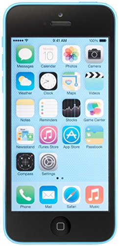 Apple iPhone 5C 16GB Unlocked Smartphone for GSM Carriers Worldwide, Blue (Renewed) (Apple Iphone 5c Best Price)