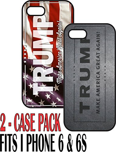 Custom-Iphone-6-and-6s-case-set-of-2-units-Black-plastic-case-Trump-Make-America-Great-Again-President-Best-Value-Pack
