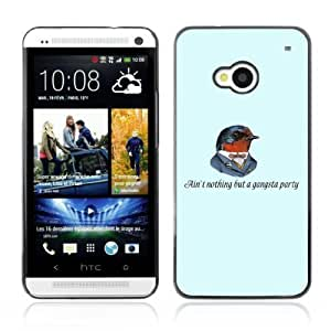 YOYOSHOP [Funny Gangsta Bird] HTC One M7 Case