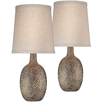 Rupert Brushed Steel Hammered Metal Table Lamp Amazon Com