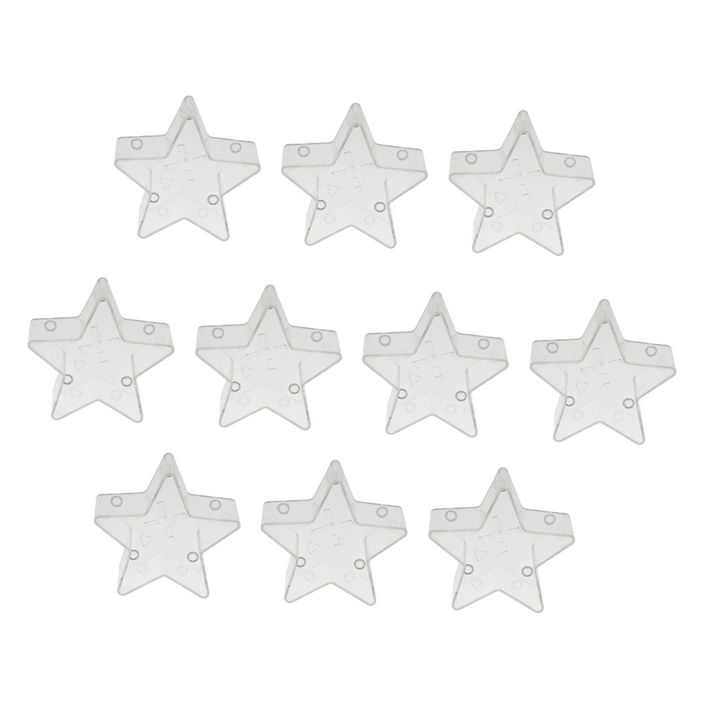 Star Shape Set of 20pcs Prettyia Tea Lights Candle Holders Tealight Cups Plastic Clear for Wedding Birthday 59x20mm Holiday Party Decorations DIY