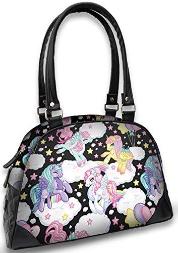 Liquorbrand-Pegasus-Unicorn-Pony-Rainbows-Scene-Vegan-Bowling-Handbag-Purse