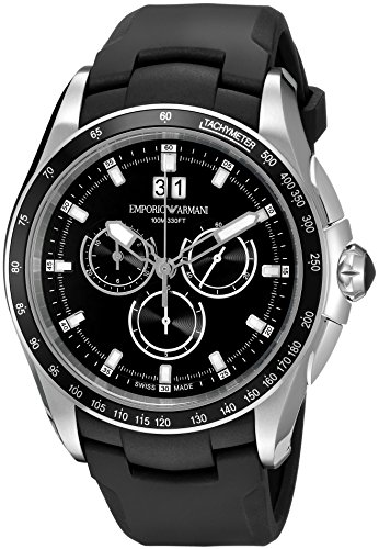 Emporio-Armani-Swiss-Made-Mens-Quartz-Stainless-Steel-and-Rubber-Automatic-Watch-ColorBlack-Model-ARS9108