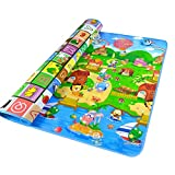 Baby Crawling Mat Roll Up Double-sided Foam Waterproof Kids Portable Playing Mat Folding Toddler Eductaional Toy Gift gym Creeping Floor Mat